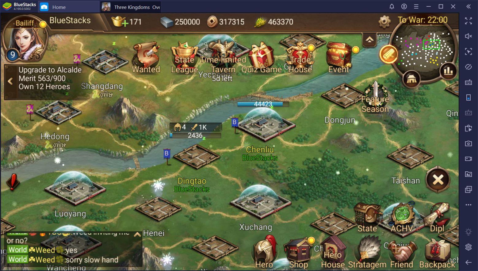 Three Kingdoms: Overlord: consejos y trucos para jugar en BlueStacks