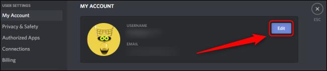 Discord Editar cuenta