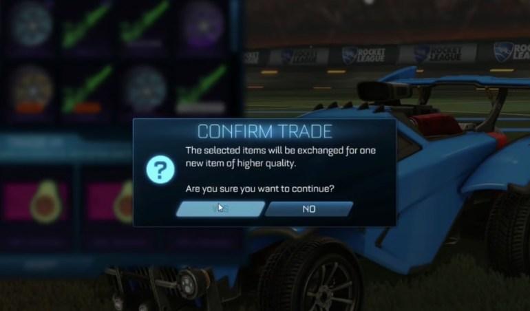 Trading de Rocket League