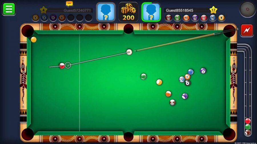 Un juego de 8 Ball Pool en acción