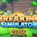 Códigos del simulador de ruptura de Roblox Octubre de 2021 (NUEVO)